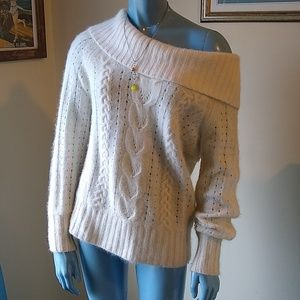 Wool Angora Slouchy Cowlneck Sweater